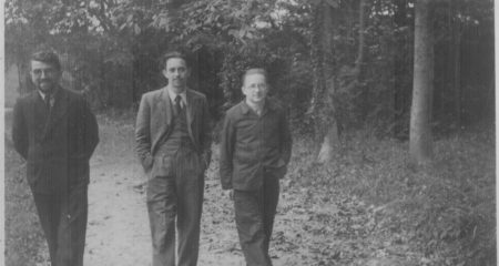Na zdjęciu: Henryk Zygalski, Jerzy Różycki i Marian Rejewski
